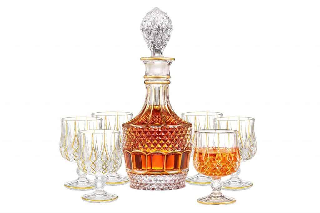 Saladays 7-Piece Whiskey Decanter Set