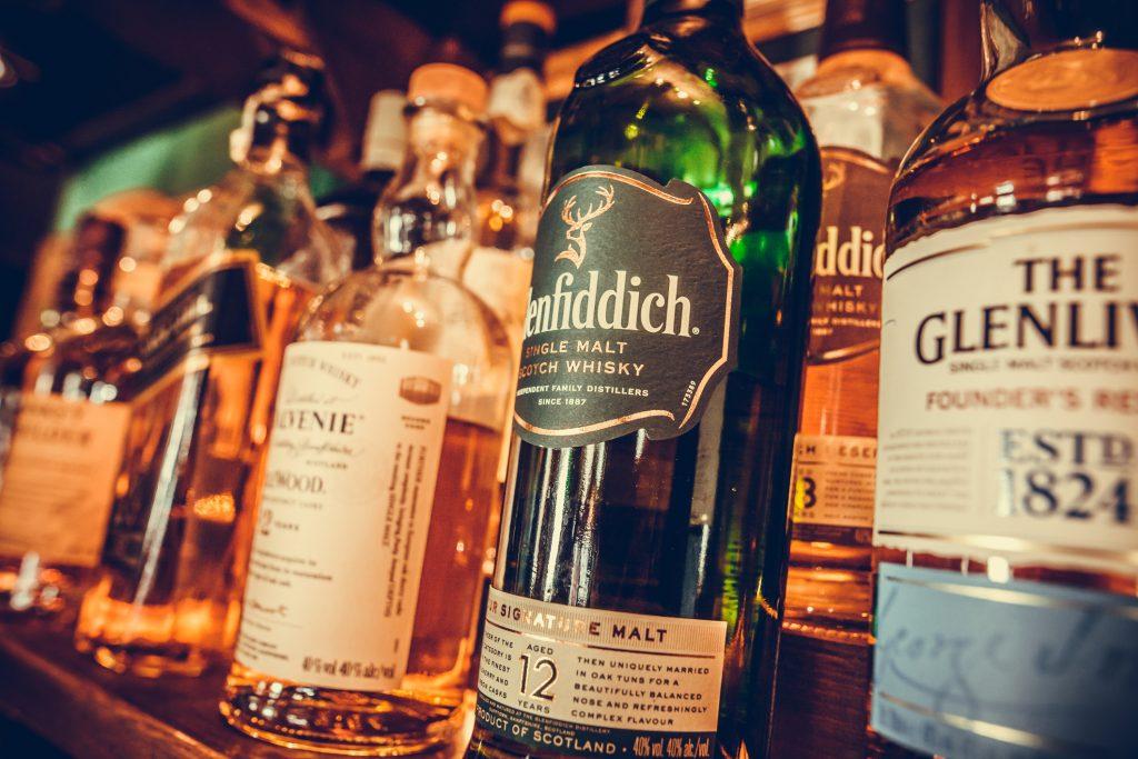 Glenfiddich and Glenlivet Speyside Whiskies