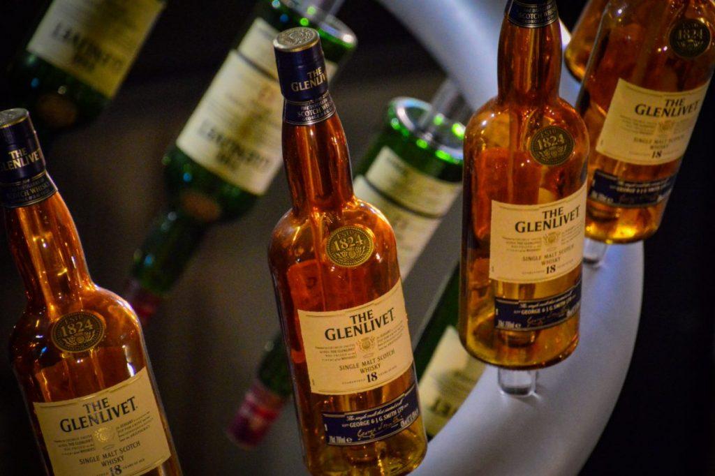 Glenlivet Whisky Bottles