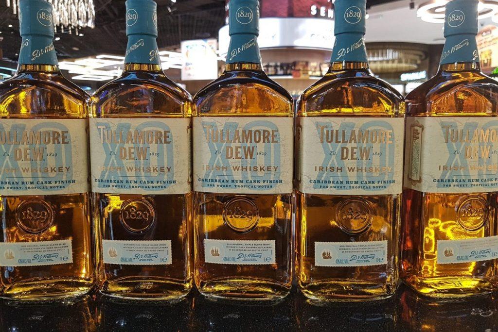Tullamore Dew Whiskey Bottles