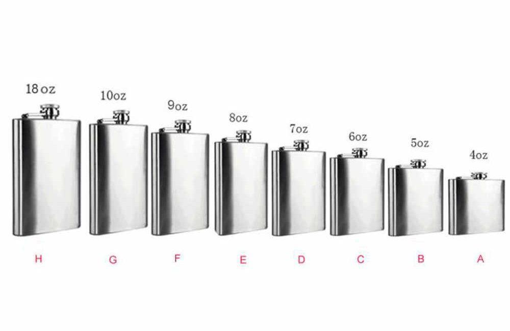 Whiskey flask sizes